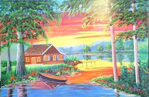 Colorful scene