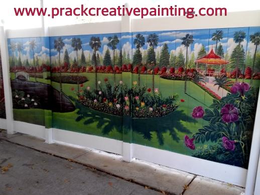 Garden...Vinyl fence Mural